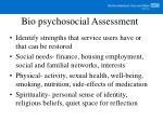 bio psychosocial assessment