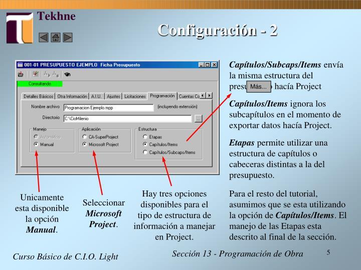 Configuración - 2