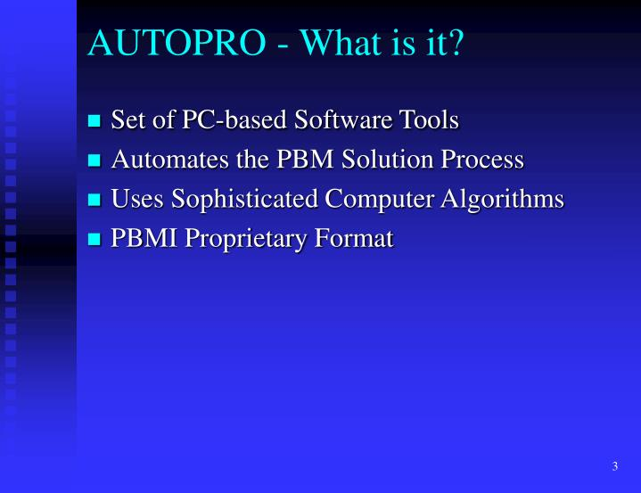 Autopro what is it