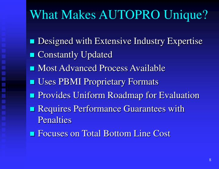 What Makes AUTOPRO Unique?