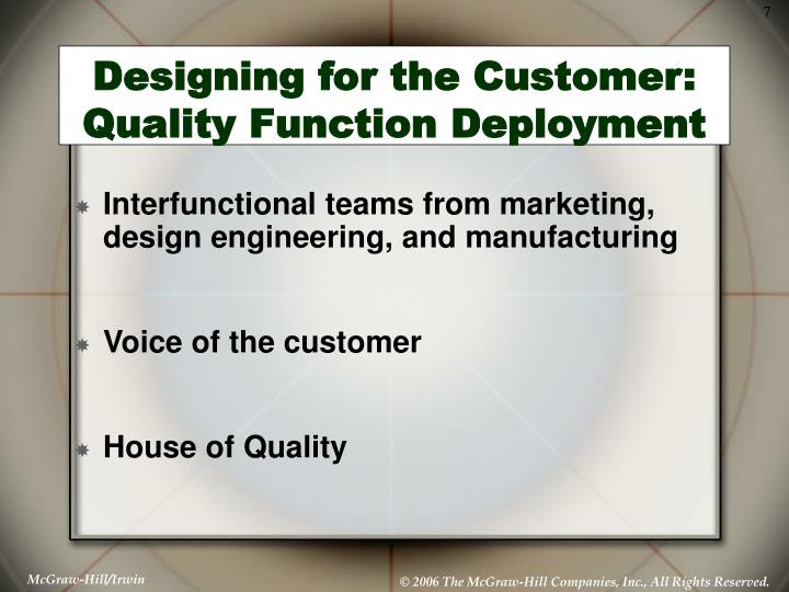 Designing for the Customer: