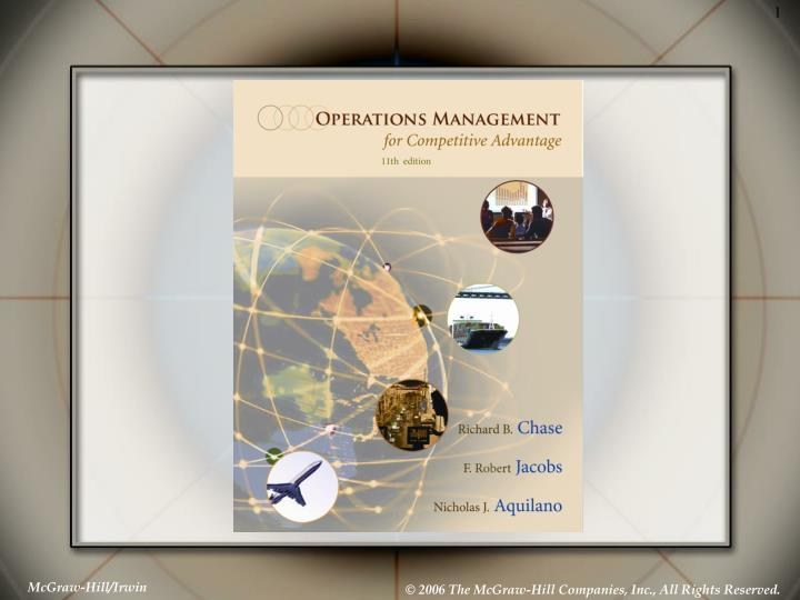 Production and operations management manufacturing and services