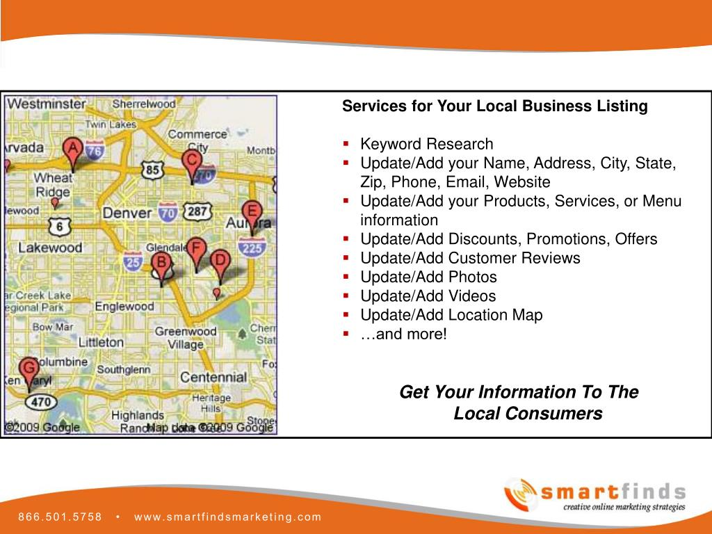 Services for Your Local Business Listing