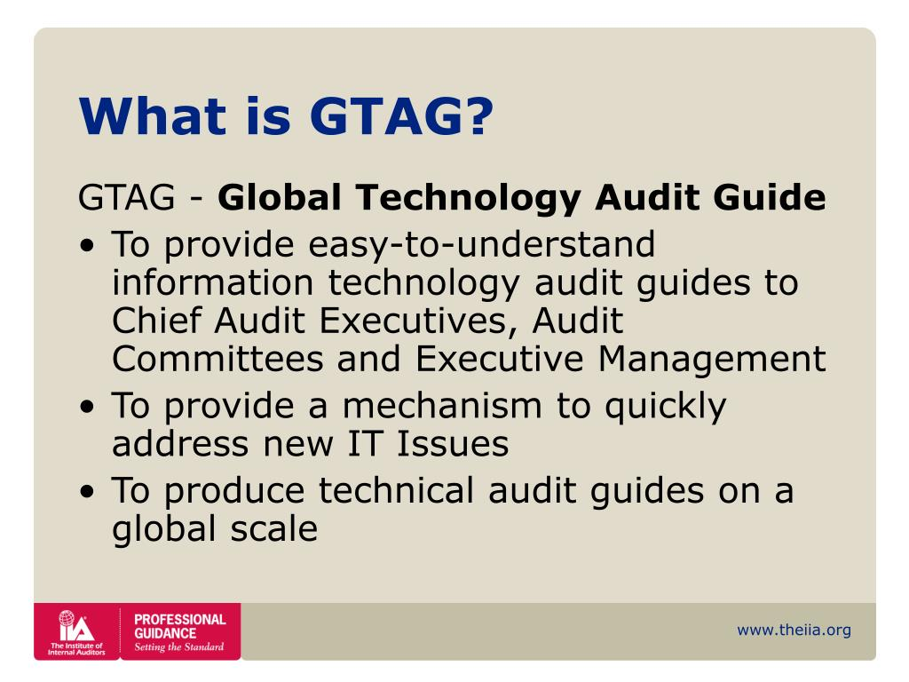 PPT - Global Technology Audit Guide PowerPoint Presentation - ID:965634