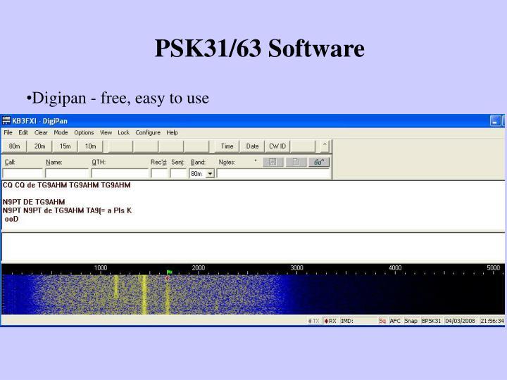 PSK31/63 Software