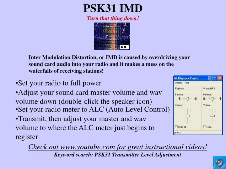 PSK31 IMD