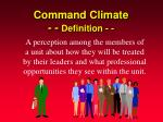 command climate definition