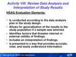 activity viii review data analysis and interpretation of study results
