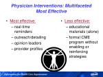 physician interventions multifaceted most effective