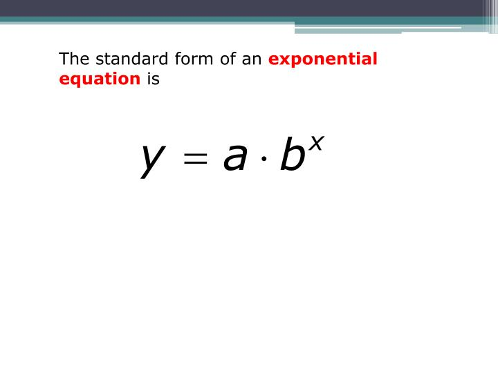 Ppt Lesson 62 Exponential Equations Powerpoint Presentation Id