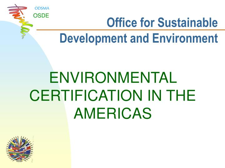 office for sustainable development and environment n.