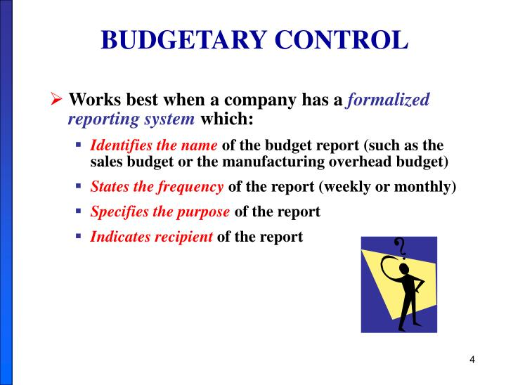 ppt chapter 10 budgetary control and responsibility accountng