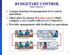 budgetary control study objective 1