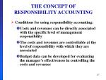the concept of responsibility accounting