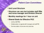 patient care committees