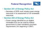 federal recognition