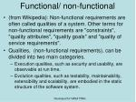 functional non functional1