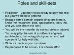 roles and skill sets