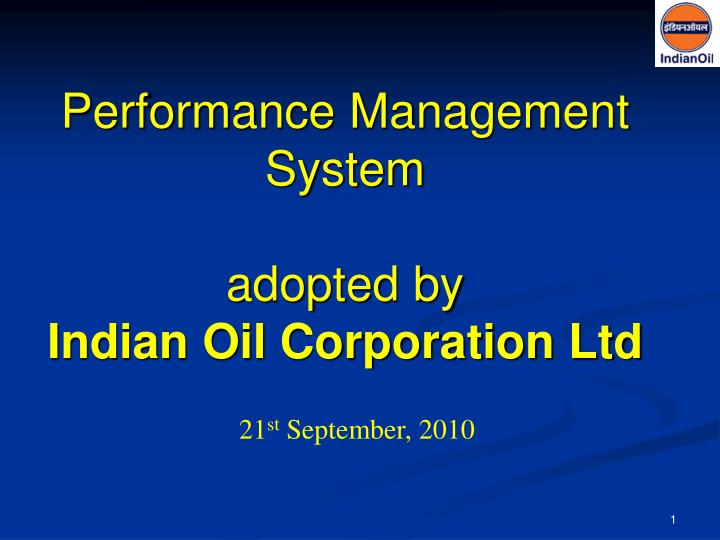 performance management system adopted by indian oil corporation ltd n.