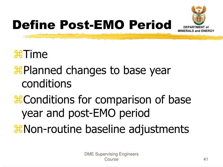 Define Post-EMO Period
