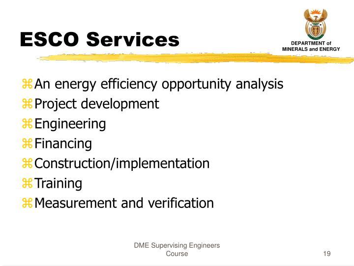 ESCO Services
