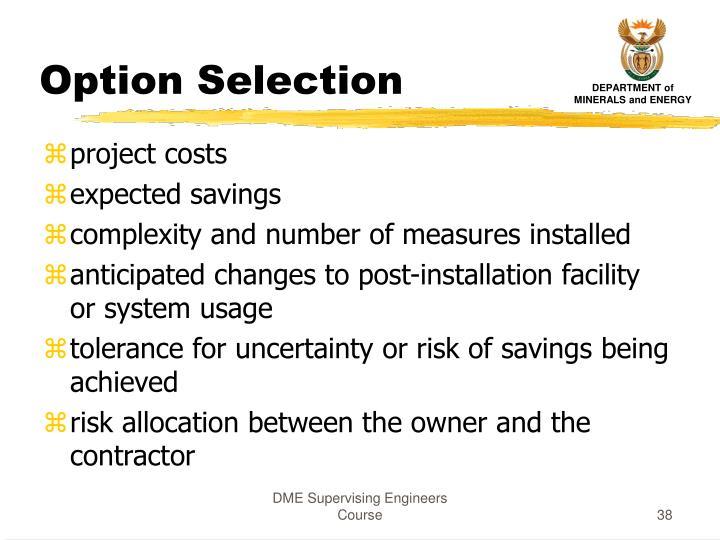 Option Selection