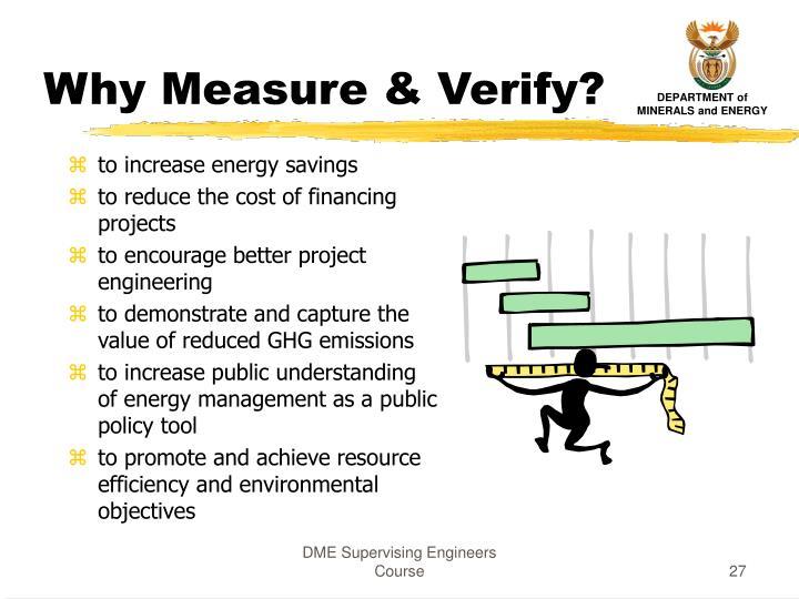 Why Measure & Verify?