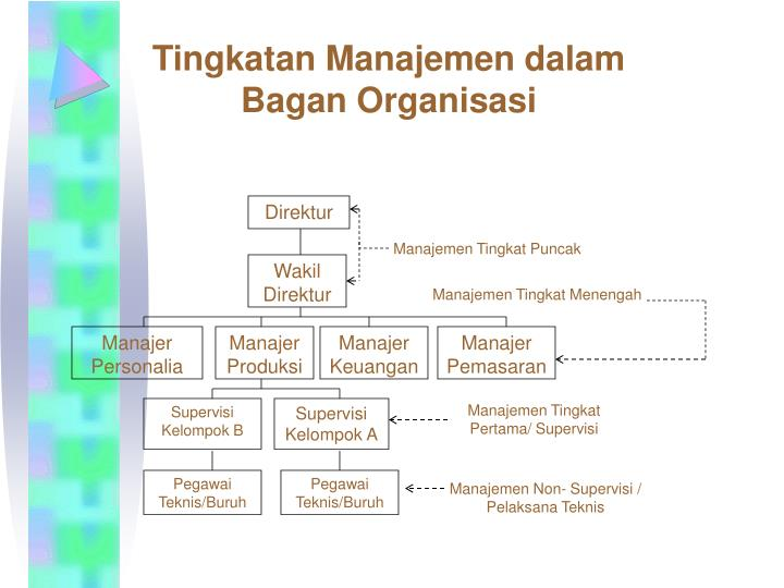 Tingkatan Manajemen dalam                      Bagan Organisasi