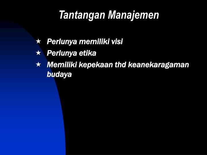 Tantangan Manajemen