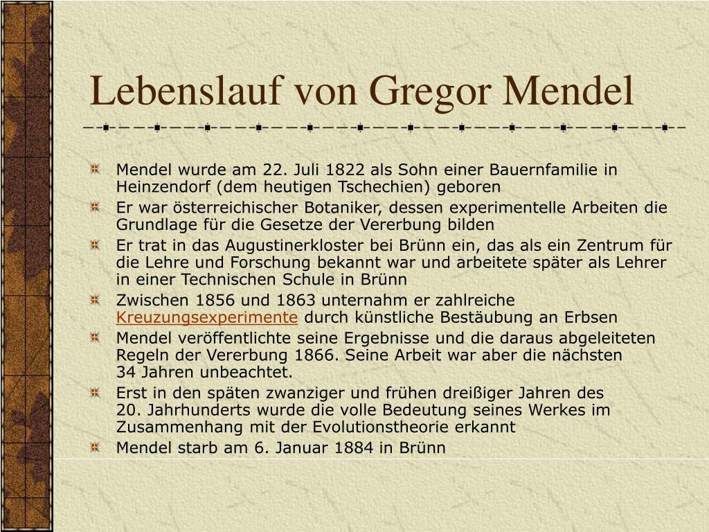 Ppt Gregor Mendel Powerpoint Presentation