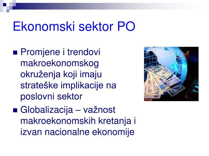 Ekonomski sektor PO