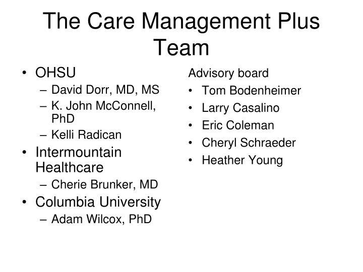 The care management plus team
