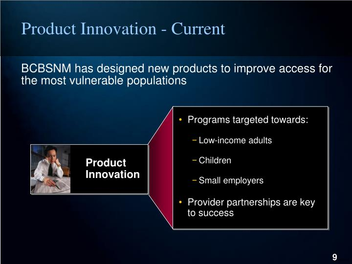 Product Innovation - Current
