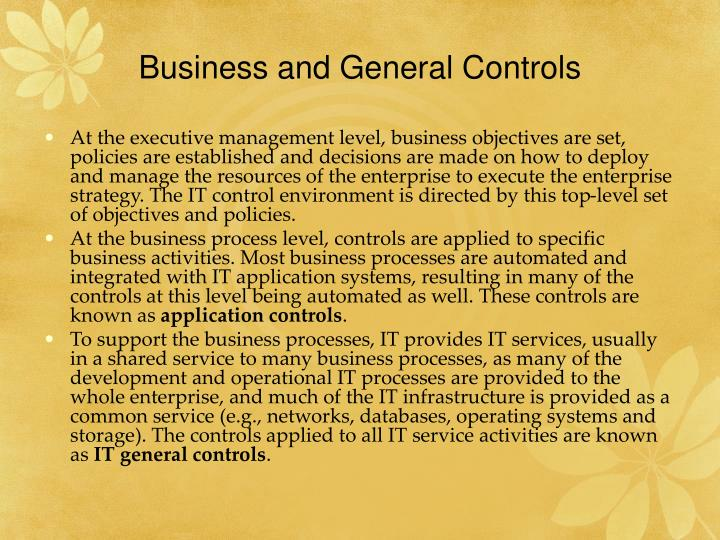 Business and General Controls