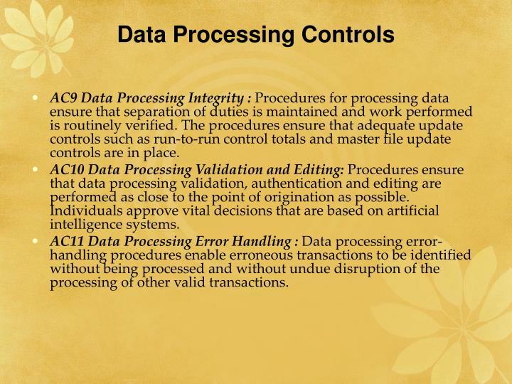 Data Processing Controls