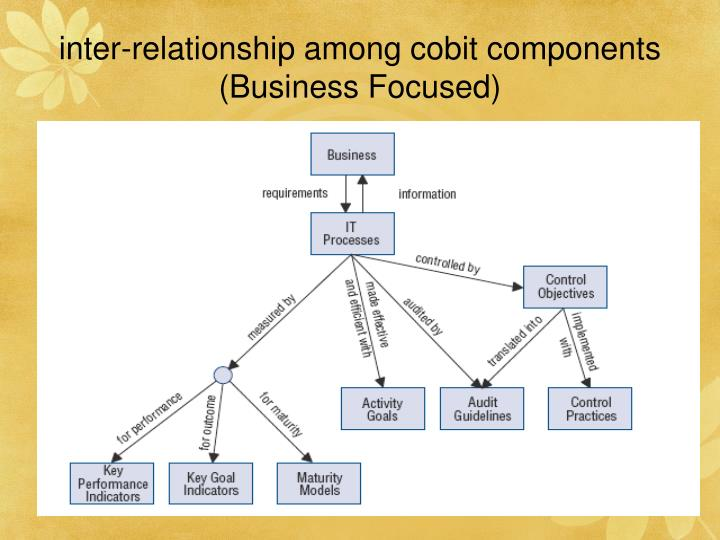 inter-relationship among cobit components (Business Focused)