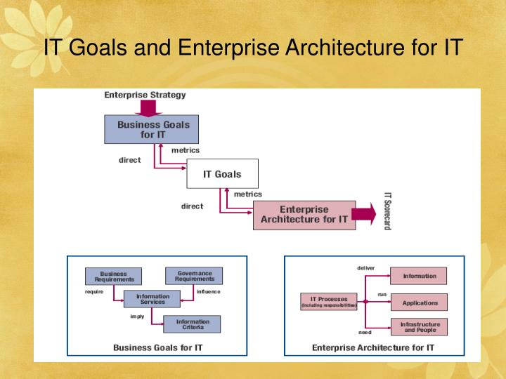 IT Goals and Enterprise Architecture for IT