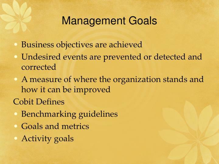 Management goals