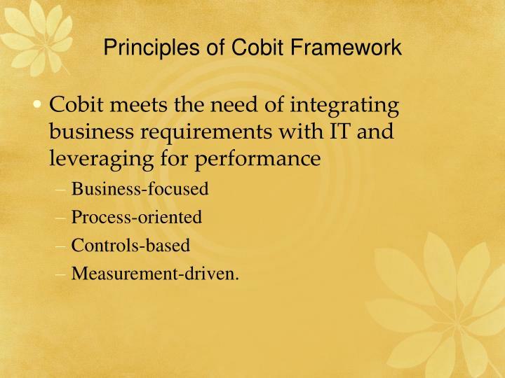 Principles of Cobit Framework