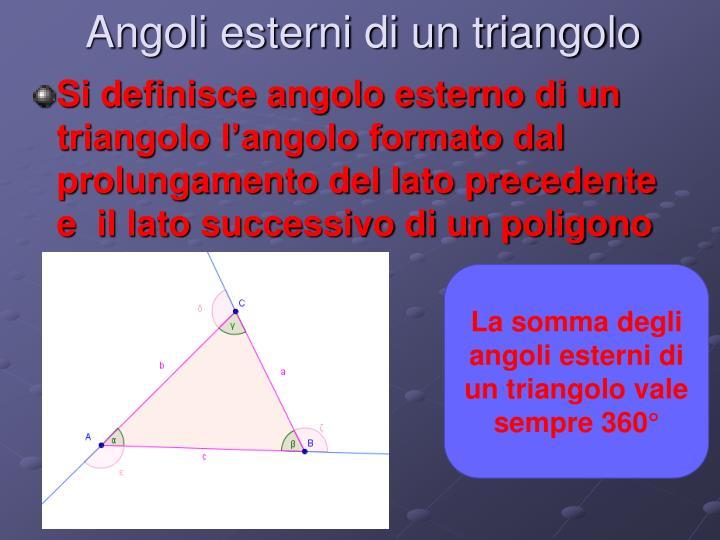 Angoli esterni di un triangolo