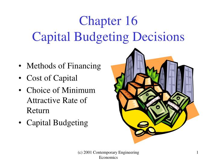 chapter 16 capital budgeting decisions n.