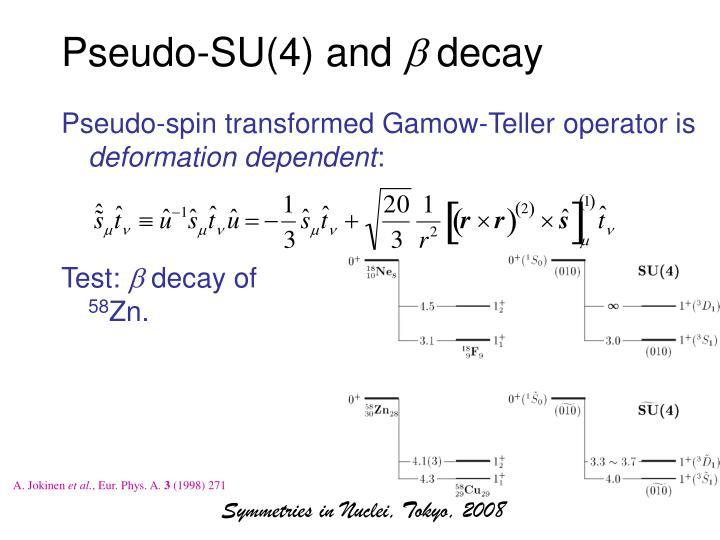 Pseudo-SU(4) and