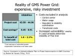reality of gms power grid expensive risky investment