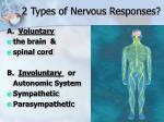 2 types of nervous responses