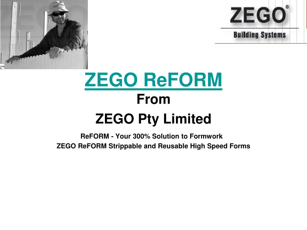 zego reform from zego pty limited l.