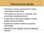 telomera zna teorija