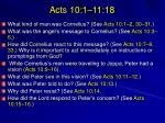 acts 10 1 11 18