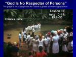 god is no respecter of persons