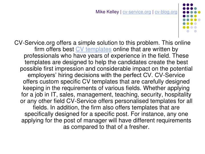 Mike kelley cv service org cv blog org3