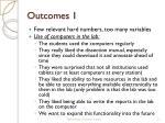outcomes 1